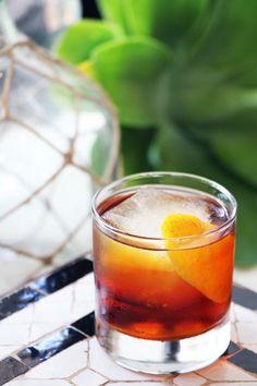 Mero Mero (1 oz. mezcal  ½ oz. reposado tequila  ½ oz. Cynar  ½ oz. maraschino liqueur  ½ oz. Punt e Mes sweet vermouth  2 dashes orange bitters)