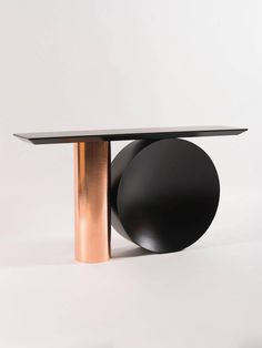 French Tambour Console, in Hammered Copper and Black Lacquered Metal by POOL For Sale Sofa Table With Storage, Console Table Styling, Hall Console Table, Copper Red, Hammered Copper, Metal Pool, Small Master Bedroom, Recessed Ceiling, Art Deco Home