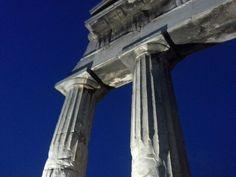 Greek columns,Plaka,august 2013