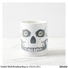 Zombie Skull Morphing Mug. Magic Mug Grandpa Gifts, Fathers Day Gifts, Gifts For Dad, Valentine Day Gifts, Holiday Gifts, Autumn Crafts, Fall Crafts For Kids, Autumn Decorating, Fall Decor