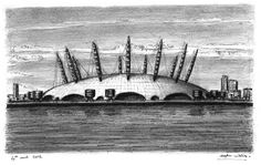 Millennium Dome (London), drawing by Stephen Wiltshire, MBE.