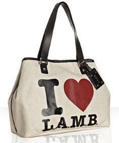 da2a7cad4f80 L.A.M.B. cream  i heart lamb  print  Williamsfield  tote