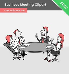 A cartoon business meeting clipart that will definitely grab the attention of your audience. This illustration is made of vector shapes and it is available for free. Cartoon Rat, Cartoon Drawings, Vector Characters, Business Cartoons, Kawaii Chibi, Business Meeting, Sunday School Lessons, Vector Shapes, Art Styles