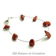 Stone jewelry red jasper bracelet healing by DSNatureetCreation www.etsy.com/shop/DSNatureetCreation