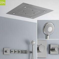 plafond de douche ciel de pluie cascades 70x38 cm en inox id es pour la maison pinterest. Black Bedroom Furniture Sets. Home Design Ideas