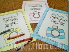 End of the Year Memory books for Kindergarten-2nd grade...various pages included as well as colored and b&w cover pages