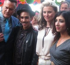 Bruce Campbell, Ray Santiago,Lucy Lawless and  Dana Delorenzo at the Comic Con San Diego 2016