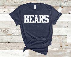 School Spirit Shirts, School Shirts, Basketball Shirt Designs, Basketball Stuff, Soccer, Tiger Team, Bears Football, Cheer Shirts, Spirit Wear