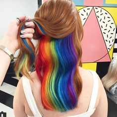 Our #Hiddenrainbows have gone global over night!  From India to Jamaica to NYC! Thank you @huffingtonpost, @popbuzz, @empire.citylife.jamaica, @redmagazine, @refinery29, @popsugarbeauty and @huffpostukstyle ✨✨ Rainbowhair #rainbowhaircolor #rainbowhairdontcare #unicorn #hiddenrainbowhair #unicornhair #pinkhair #yellowhair #bluehair #greenhair #purplehair #orangehair