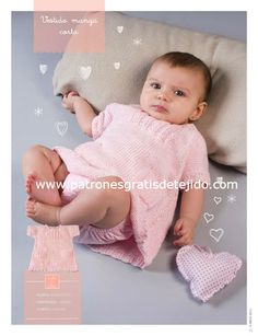 Tricô Easy Recipe Magazine Baby Cloud Magazine Tricô in Spanish 25 rec … - Everything About Knitting Knitting For Kids, Baby Knitting Patterns, Little Girl Dresses, Little Girls, Cute Babies, Baby Kids, Baby Booties, Baby Dress, Crochet