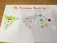 St Nicholas Day, French For Beginners, Bunting, Saints, Language, Colours, Garlands, Beginners French, Buntings