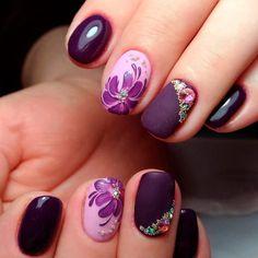 Pink Sparkle Nails, Purple Nails, Red Nails, Swag Nails, Purple Nail Designs, Colorful Nail Designs, Lavender Nails, Burgundy Nails, Nail Art Diy