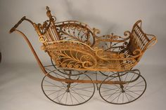 Heywood Wakefield Wicker Baby Carriage c. 1880