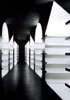 onsomething:  Aires Mateus | Almedina Bookstore, 2002 Vila Nova de Gaia. Photo by Daniel Malhão. Via
