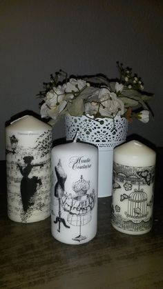 ** Learn To Decoupage Plain White Candles Homemade Candles, Diy Candles, Pillar Candles, White Candles, Candle Art, Candle Lanterns, Candle Making Supplies, Ideias Diy, Candlemaking