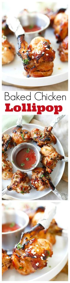 Baked Chicken Lollipop – the most amazing drumette appetizer that is shaped like a lollipop. Marinated with hoisin ginger and baked to juicy deliciousness | rasamalaysia.com