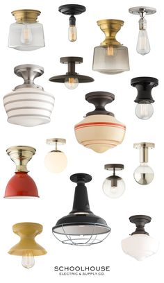 Iconic, modern & vintage-inspired lighting for your home. Purposeful design + thoughtful living by Schoolhouse | Made in the U.S.,  shop our surface mounts online.