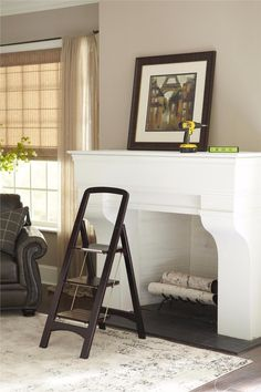 FYI: Folding 3 Step Ladder Stool Household Large Steps Safe Library Kitchen Wood