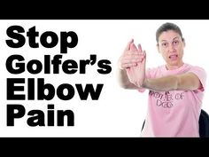 7 Best Golfer's Elbow Pain Relief Treatments (Medial Epicondylitis) - Ask Doctor Jo Golfers Elbow Exercises, Elbow Stretches, Golf Exercises, Rheumatoid Arthritis Treatment, Arthritis Relief, Pain Relief, Arthritis Diet, Golfers Elbow Treatment, Elbow Pain