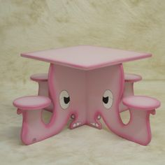 Elephant Table and Chairs Pink  Kids Table and Chairs by fredhale