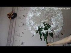 flores de papel gigantes. Diente de león. Hoy en día, nuestra blogger ofrece un video que le dirá cómo hacer un crecimiento diente de león gigante de papel c...