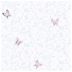 York Wallcoverings 56 sq. ft. Butterfly Scroll Wallpaper-CK7614 - The Home Depot