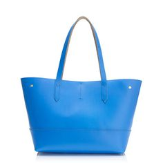 """A minimalist tote with maximum schlep-ability. We found this classic style in our archives and updated it with ultra-smooth leather and an adjustable snap closure that lets you to fold in the in the sides—so it's almost like having two bags in one.  <ul><li>10 1/2""""H x 11 3/4""""W x 6 3/4""""D.</li><li>9"""" handle drop.</li><li>Leather.</li><li>Import.</li></ul>"""