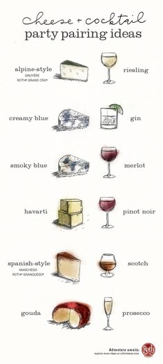 Excite your senses with these simple cheese and cocktail pairing ideas from Roth Cheese.