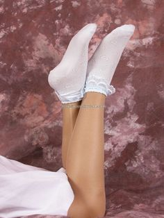 See good selection of girls socks and hosiery. Nylons, Pantyhose Outfits, Tan Pantyhose, Frilly Socks, Lace Socks, Foot Socks, Ankle Socks, Sexy Socks, Stockings Heels