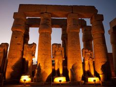 Court of Ramesses IIHeadless Statues of Ramesses II stand guard...