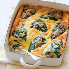 Baked Chiles Rellenos, a casserole version of the traditional Mexican dish, is perfect for a spicy brunch dish.