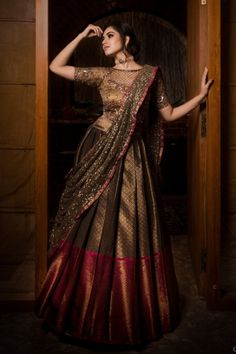 Bridal Lehenga Collection, Indian Designer Outfits, Half Saree, Dressing, Sari, Gowns, Bridal Jewellery, Mehendi, Blouse