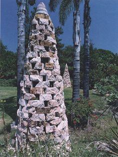 Travertine Cairn(s), Santa Barbara, CA by Paul Lindhard