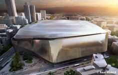 Image 5 of 8 from gallery of gmp Wins Bid to Redevelop Real Madrid's Bernabeu Stadium. Photograph by Real Madrid Fotos Real Madrid, Real Madrid Club, Real Madrid Football Club, Stadium Architecture, Modern Architecture, Win Competitions, Santiago Bernabeu, Spanish Design, Sports Stadium