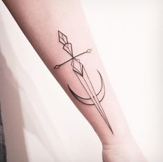 Geometric dagger tattoo by Lianna Sabrina
