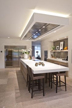 False Ceiling Details Home false ceiling hall modern.False Ceiling With Fan For Bedroom. Beautiful Kitchens, Kitchen Flooring, Kitchen Island With Sink, Kitchen Remodel, Modern Kitchen, Kitchen Island With Seating For 4, Kitchen Island With Seating, Minimalist Kitchen, Kitchen Design