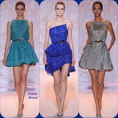 Zuhair Murad Haute Couture '14  Stylist Picks: The collection was inspired by geometry in architecture and I see a bit of futurism in these space age frocks.  Source: oncewheniwas.com