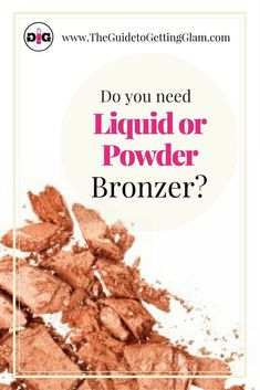 what is the best bronzer for your skin, liquid or powder? Get pro makeup tips to help you choose the best bronzer for you. Pro Makeup Tips, Makeup Artist Tips, Makeup Tips For Beginners, Best Makeup Products, Beauty Products, Makeup Tricks, Makeup Ideas, Beauty Tips, Beauty Hacks