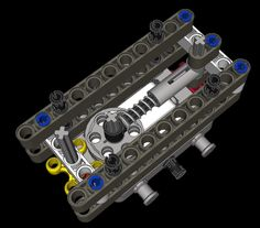 Clever locking mechanism made of Lego.