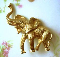 Vintage Napier Baby Elephant Brooch   AestheticsAndOldLace - Jewelry on ArtFire