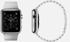 #Apple #Watch  38mm and 42mm Case 316L Stainless Steel,  Sapphire Crystal Display, Ceramic Back,  Link Bracelet Stainless Steel, Butterfly Closure