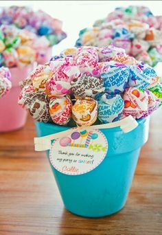 Lolly bouquet! Thank you for making my party so sweet!