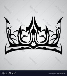 Tribal Crown Vector Image by VectoryOne