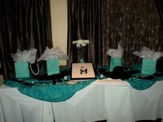 Diva  Co a Breakfast at Tiffanys Champagne Bridal Brunch :  wedding maid of honor shower breakfast at tiffanys shower ideas blue tiffany blue champagne brunch teal navy white bridesmaids cake inspiration diy The Prop Table