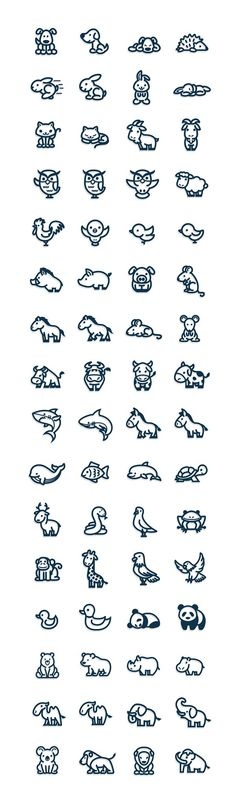 Nice ** Cute and easy vectorial animal icons....