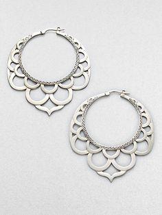 Earrings   John Hardy.   'Lace'  Sterling silver.
