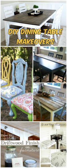 The best DIY projects & DIY ideas and tutorials: sewing, paper craft, DIY. Beauty Tip / DIY Face Masks 2017 / 2018 DIY Dining Table and Chairs Makeover Furniture Fix, Refurbished Furniture, Furniture Projects, Painted Furniture, Furniture Refinishing, Repurposed Furniture, Furniture Stores, Diy Dining Table, Table And Chairs