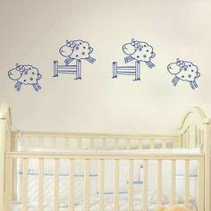 Contando ovejitas para dormir... #decoracion#decoration #homedesign #interiordesign #interiorismo #walldecals #homedesignideas #homeinterior #homestyle #homedecor #vinilosdecorativos  #vinilosinfantiles