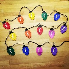 Hama perler bead Christmas lights by christeaandcakes