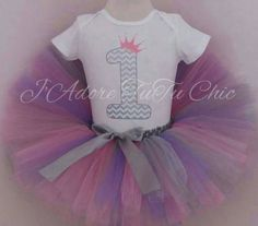 Check out this item in my Etsy shop https://www.etsy.com/ca/listing/215786838/silver-chevron-1st-birthday-outfit